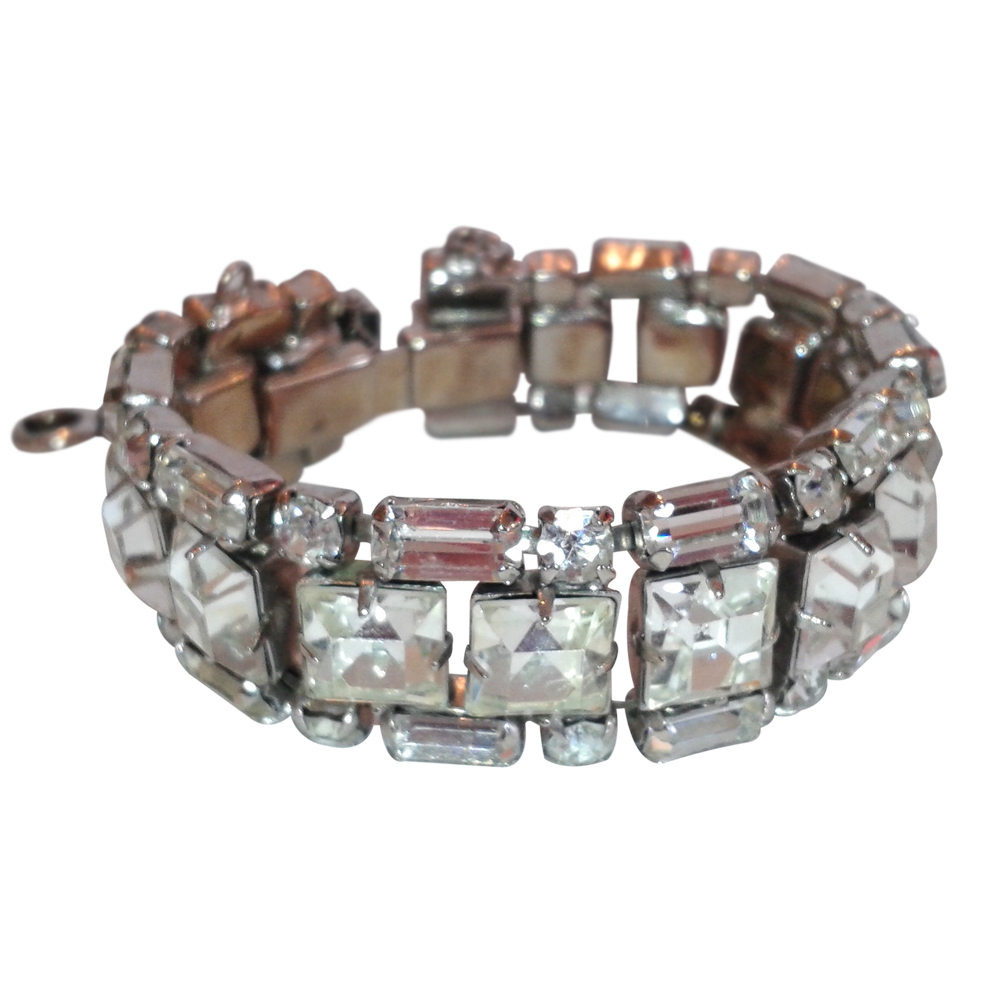 Vintage Rhinestone Bracelet - Weiss Signed : On Antique Row - West ...