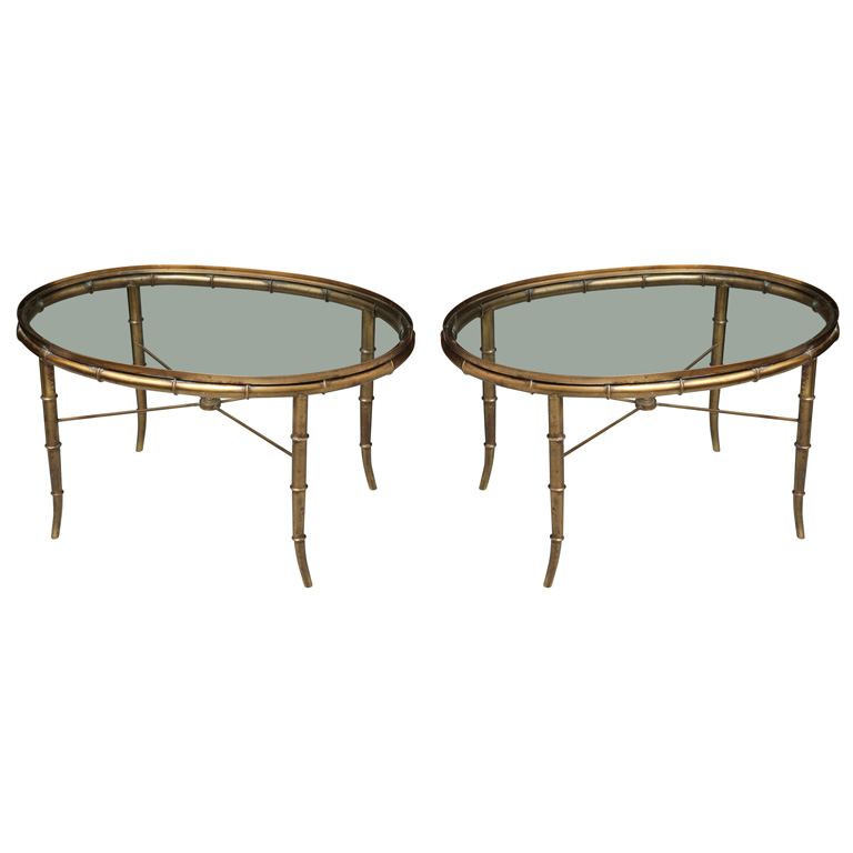 Pair Of Mastercraft Faux Bamboo Coffee Tables On Antique Row West Palm Beach Florida