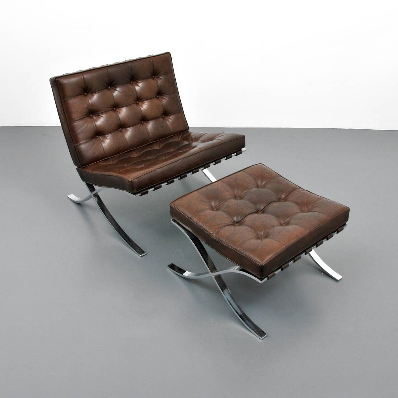 Mies Van Der Rohe Barcelona Chair And Ottoman Knoll On Antique Row West Palm Beach Florida